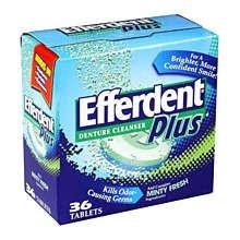 Image 0 of Efferdent Plus Denture Cleanser Tablets Mint Fresh 36 Each