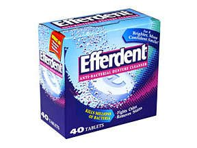 Efferdent Original Anti-Bacterial Denture Cleanser Tablets 40