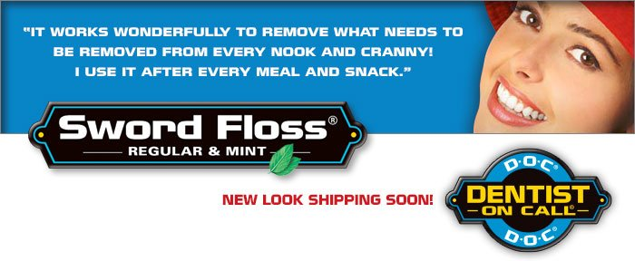 Image 1 of Sword Floss Regular Sword Floss Flossing Picks 50 Ct.