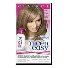 Clairol Nice N Easy Color blend foam 8A Medium Ash Blonde