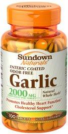 Odor-Free Garlic 2000MG, 100 Tablets