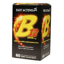 Fast Acting B-12 2500mcg Cherry Sublingual Tablets 60ea