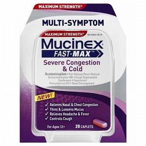 Mucinex Fast Max Congestion & Cold 20 ea