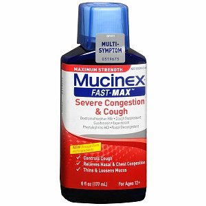 Mucinex Fast Max Congestion & Cough Liquid 9 Oz