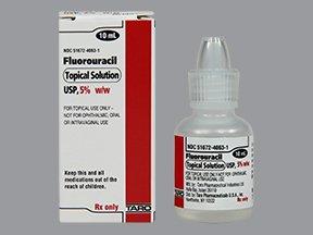 Fluorouracil 5% 10 ML Solution By Taro Pharma.