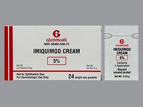 Imiquimod 5% 24x0.25 Unit Dose By Glenmark Generics.