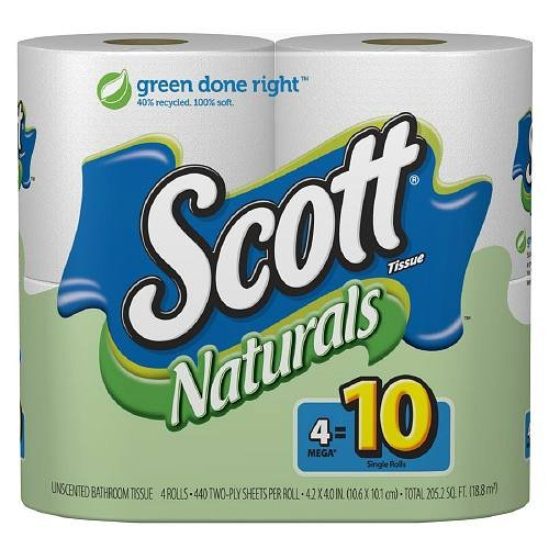 Scott Bath Tissue Natural White 12X4Pk
