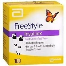 Freestyle Insulinx Test Strip 100Ct By Abbott Diabetes Care Sales