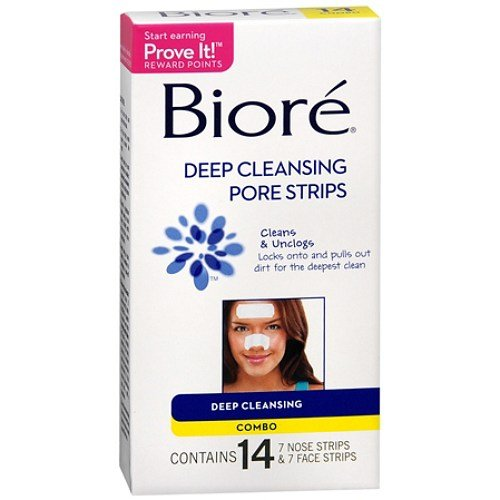 Biore Deep Cleansing Pore Strips Combo Pack 14 ea