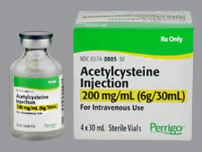 Use of acetylcysteine for nonacetaminopheninduced acute