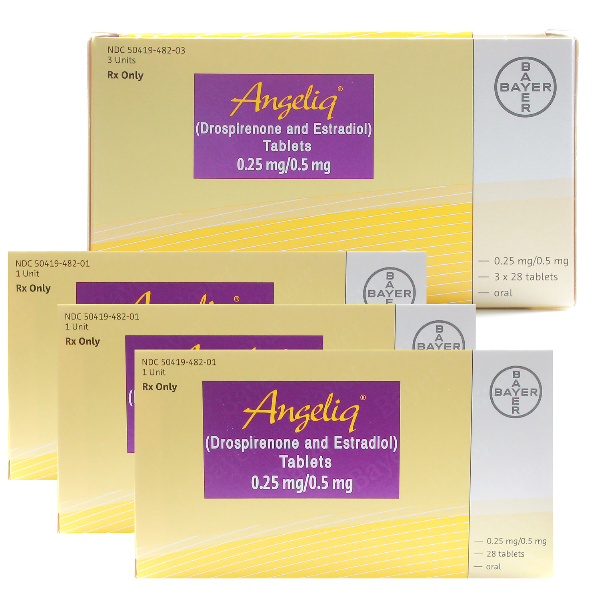 Angeliq .25-.5 Mg Tabs 3X28 By Bayer Healthcare.