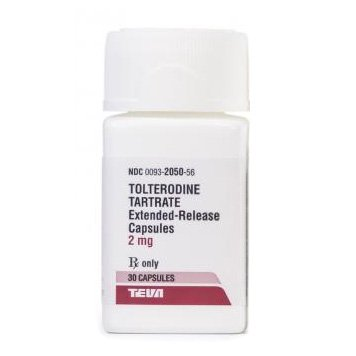 Tolterodine 2 Mg Er 30 Caps By Teva Pharma