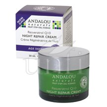 Age Defying Night Repair Cream Resveratrol Q10 1.7 Oz By Andalou Naturals