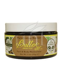 Body Butter Pure Cocoa 3.3 Oz Body Lotion By Aroma Naturals