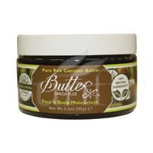 Body Butter Pure Raw Coconut 3.3 Oz Body Lotion By Aroma Naturals
