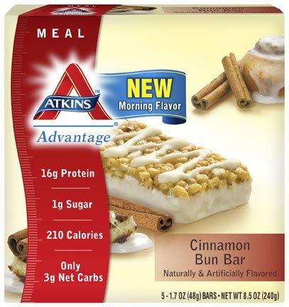 Advantage Bar Cinnamon Bn 5 x 1.7 Oz By Atkins