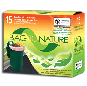 Kitchen Bags Jumbo Biodrg 1x15  count Each by BAG TO NATURE