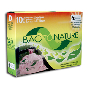 Waste Bags Lawn&Lf Biodgr 1x10 count Each by BAG TO NATURE