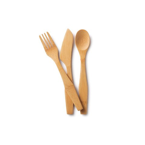 Image 0 of Knife Fork & Spoon Set 1x3  count Each by BAMBU