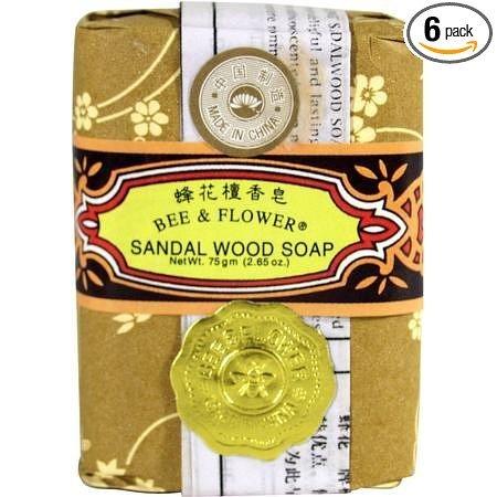 Bee & Flower Sandal Wood Bar Soap 12 x 2.65 Oz