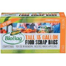 Biobag Kitchen Waste Bag 13 Gallon 12 Ct