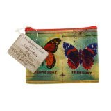 Coin Purse Butterfly 1x count Each by BLUE Q