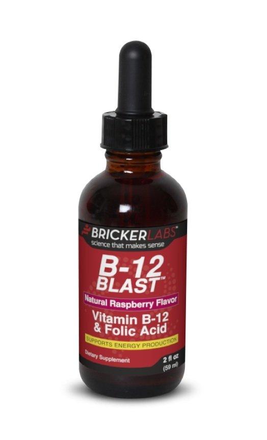 B-12 Blast Raspberry Liq 1x2 Fluid oz Each by BRICKER LABS