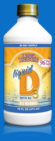 Image 0 of Liquid D3 W/K2 Hi-Potency 1x16 Fluid oz Each by BURIED TREASURE