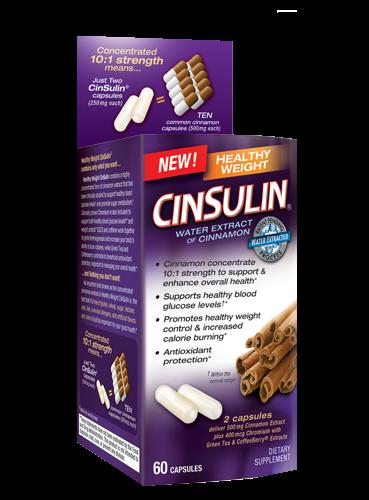 Cinsulin Healthy Weight 1x60 Cap Each by CINSULIN