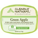 Bar Soap Glycerine Apple 1x4 oz Each by CLEARLY NATURAL