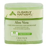 Bar Soap Glyc Aloe 3Pk 1x3/4 oz Each by CLEARLY NATURAL