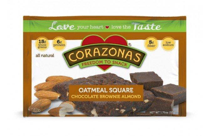 Oatmeal Squares Brwn&Alemon 12x1.76 oz Case by CORAZONAS