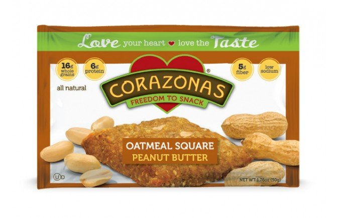 Oatmeal Squares Pnut But 12x1.76 oz Case by CORAZONAS