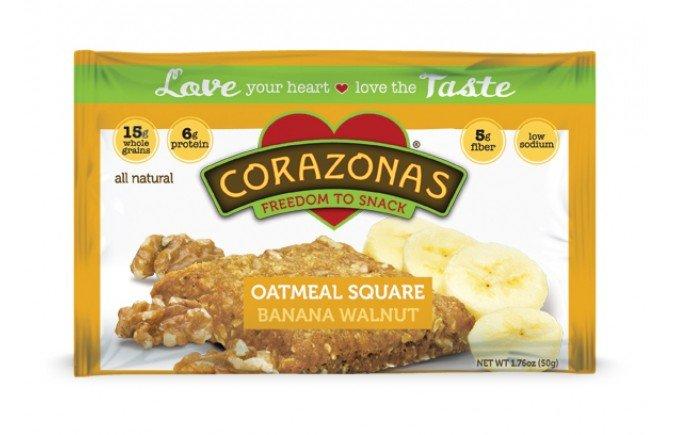 Oatmeal Squares Ban Walnt 12x1.76 oz Case by CORAZONAS