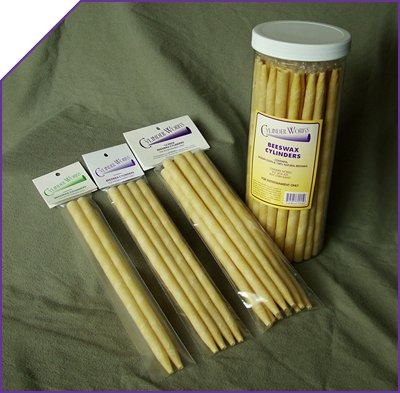 Candles Beeswax 1x4 Pack Each by CYLINDER WORKS
