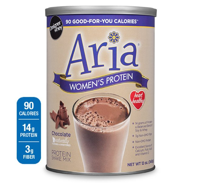 Aria Women'S Protein Choc 1x12 oz Each by DESIGNER WHEY