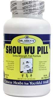 Shou Wu-Youthful Hair 1x200 Tab Each by DR. SHEN'S