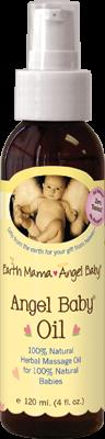 Angel Baby Oil 1x4 Fluid oz Each by EARTH MAMA ANGEL BABY