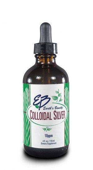 Colloidal Silver 1x4 oz Each by EARTH'S BOUNTY