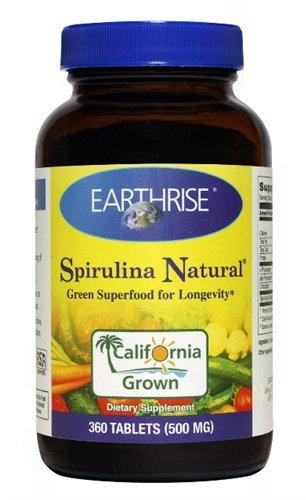 Spirulina 500 Mg 1x360 Tab Each by EARTHRISE