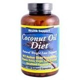 Coconut Oil Diet 1x180 Soft Gel Each by HEALTH SUPPORT