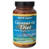 Coconut Oil Diet 1x120 Soft Gel Each by HEALTH SUPPORT