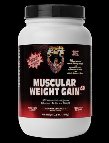 Image 0 of Muscular Wght Gain 3 Choc 1x2.5 LB Each by HEALTHY 'N FIT