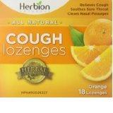 Cough Drops Orange 1x18 count Each by HERBION NATURALS