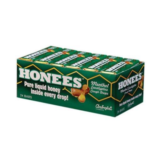 Cough Drops Menthol 24x9 count Case by HONEES