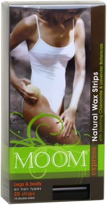 Express Pre Waxed Strips For Legs & Body 20 Count By Moom