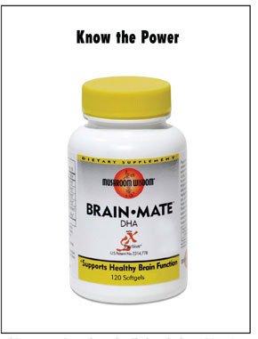 Brain Mate 1x120 Soft Gel Each by MUSHROOM WISDOM