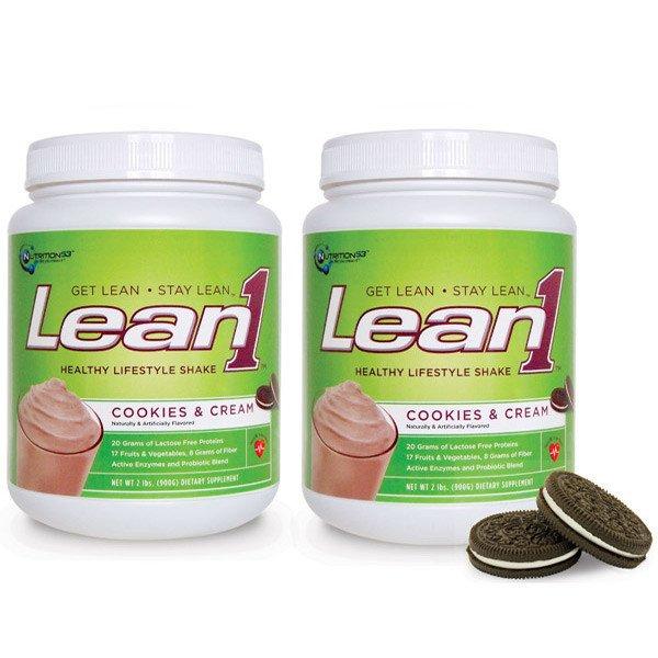 Lean1 Shake Cookies&Cream 1x2 LB Each by NUTRITION53