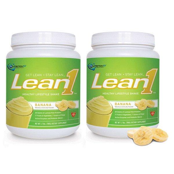 Lean1 Shake Banana Cream 1x1.7 LB Each by NUTRITION53