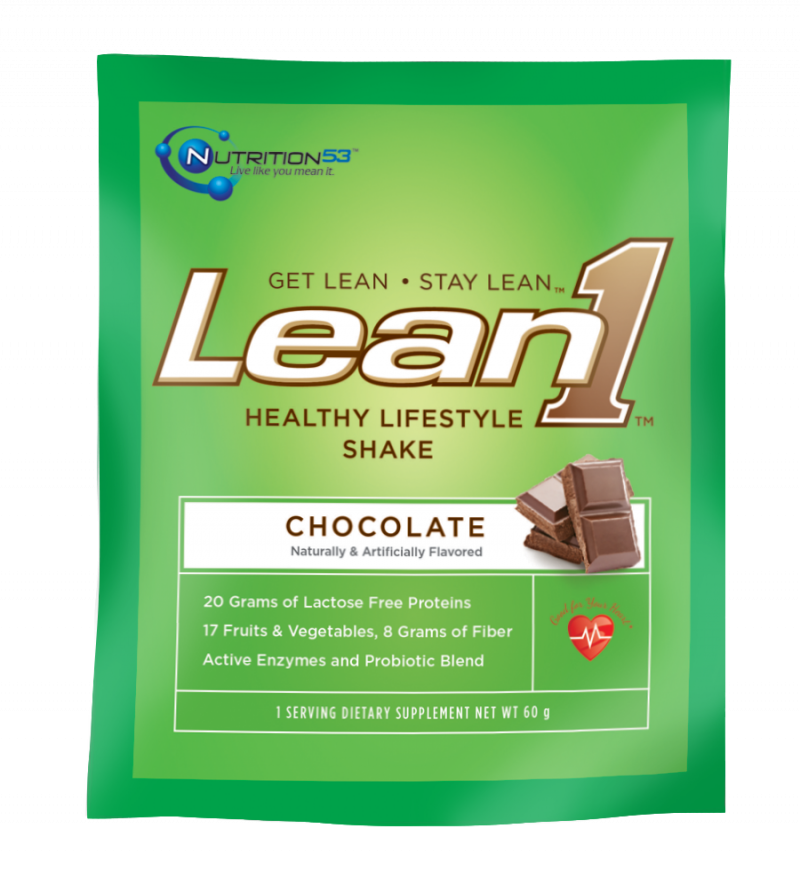Lean1 Shake Packets Chocolat 15x60 GRAM Case by NUTRITION53